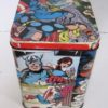 Upcycled can with comics