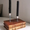 Book candle stick