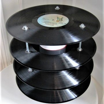 Vinyl record table lamp/ LP bordlampe