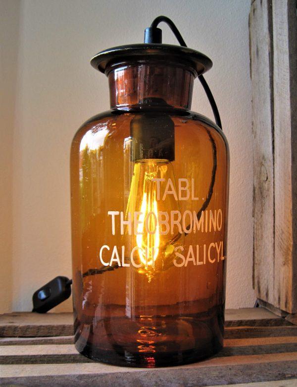 Apotekerglasflaskelampe