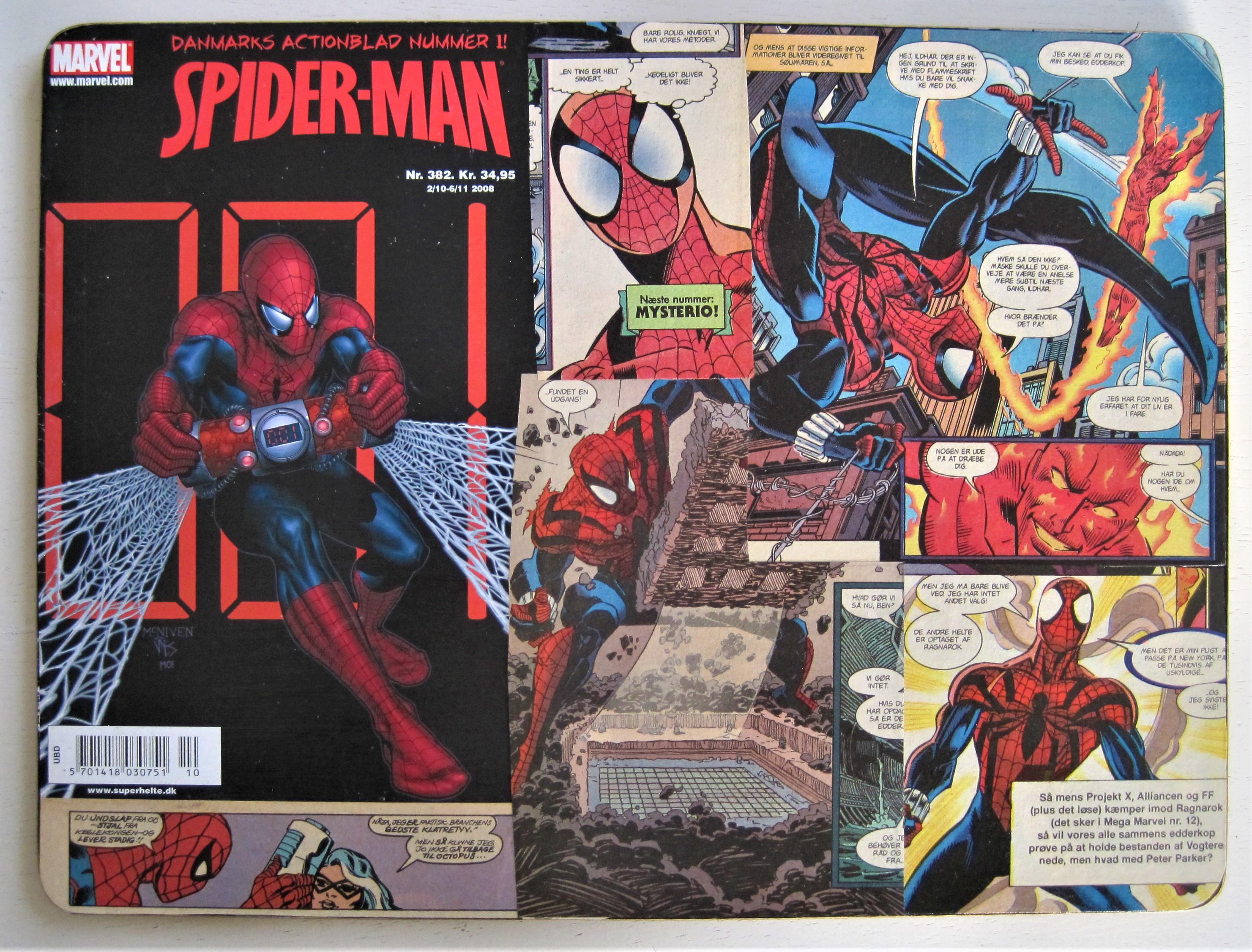 Dækkeserviet af kork med tegenseriehelten Spiderman