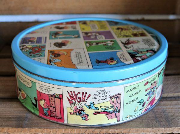 Kagedåse med tegneserie