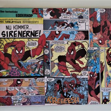 Decoupage Spiderman dækkeserviet