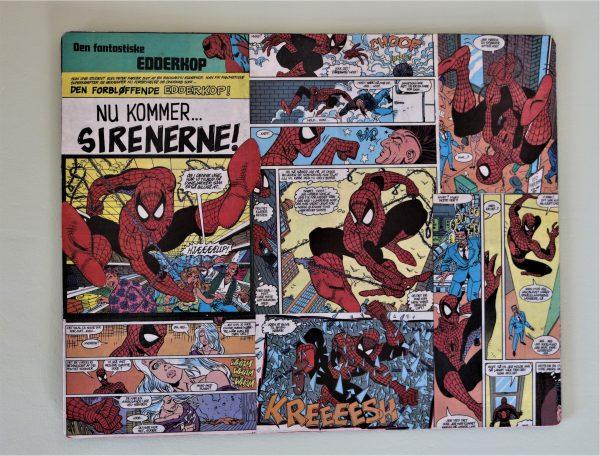Decoupage Spiderman dækkeserviet