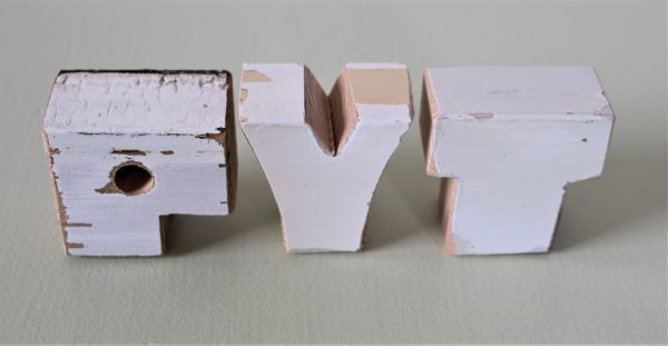 Upcycled wooden letter